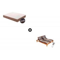 Pack Colchón Emoción 24 Medium Látex Talalay® + Somier Articulado Eléctrico Epsilon de Dunlopillo®
