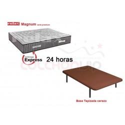 Pack Colchón Colchón Magnum Serie Premium de Relax® + Base Tapizada - Entrega Expréss