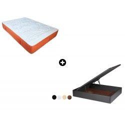 Pack Colchón Dom30 Muelle UltraBlock de ColchonVip® + Canapé Abatible Polipiel Hércules de ColchonVip®