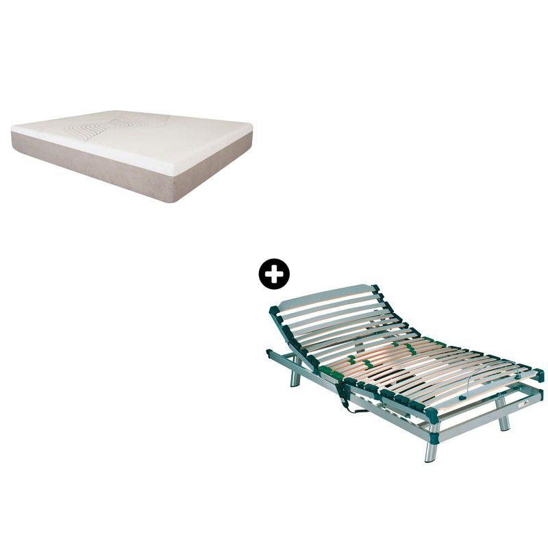 Pack Colchón Viscoelástica Adapta 25 de Pardo® + Articulado Eléctrico Ergos Basic de Pardo®