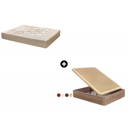 Pack Colchón Sensac Serie Spiral de Relax ®+ Canapé Abatible Madera Yangtsé de ColchonVip®