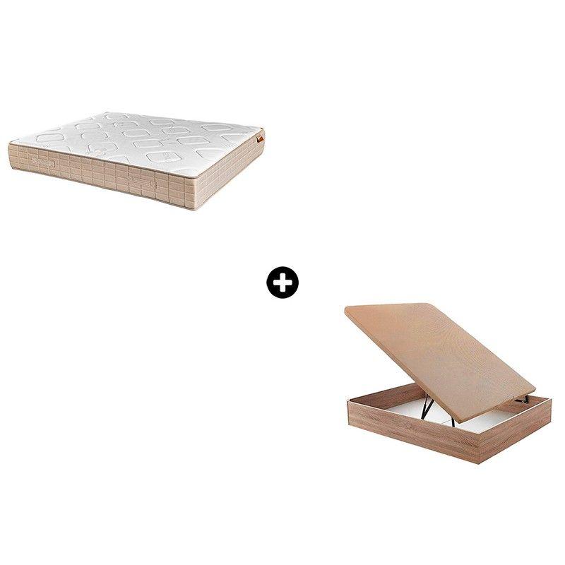 Pack Colchón Surus de Relax+ Canapé Abatible Madera Orinoco de ColchonVip