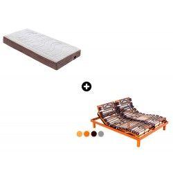 Pack Colchón Rubik Dunlop Firm Látex de Dunlopillo®+ Somier Articulado Eléctrico Epsilon de Dunlopillo®