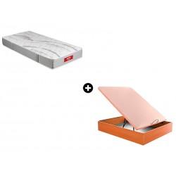 Pack Colchón Orange Serie Juvenil de Pikolin® + Canapé Abatible Madera Drompbox de ColchonVip®