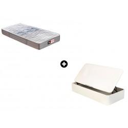 Pack Colchón Juvenil Huracán Firm Serie Neo de Pikolin® + Canapé Abatible Madera Drompbox de ColchonVip®