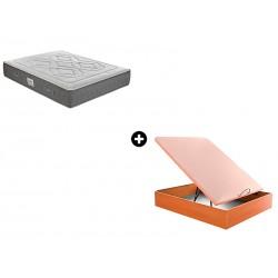 Pack Colchón Pompidou de Sunlay® + Canapé Abatible Madera Drompbox de ColchonVip®