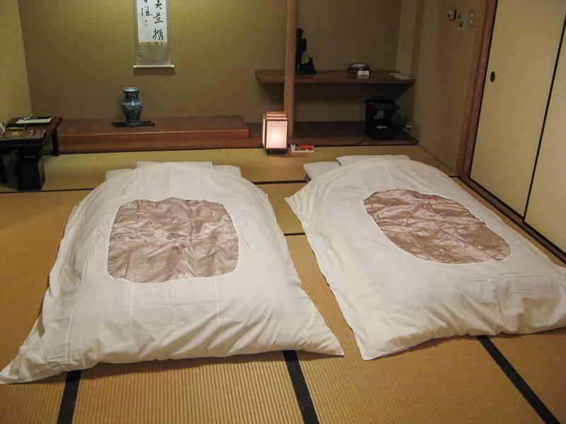 El futón, típico colchón japones